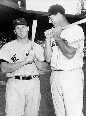 Mickey Mantle and Ted Williams