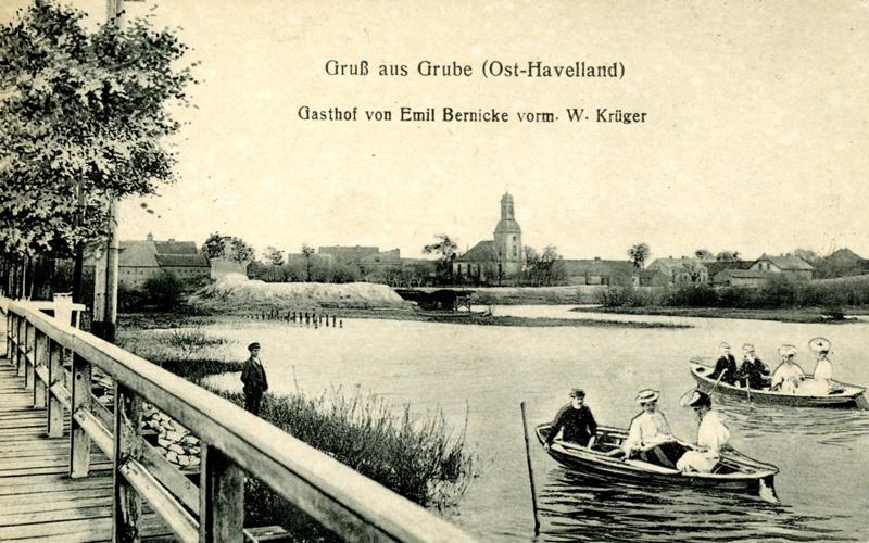 Postkarte Grube
