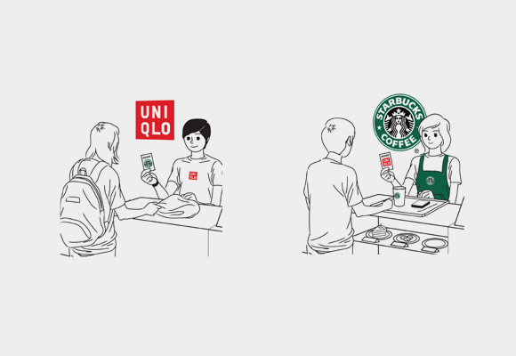 Co-promotion between Starbucks and UNIQLO