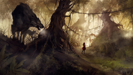 The Big Bad Wolf Picture  (2d, fantasy, forest, kid, wolf, child)