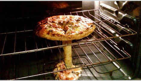 Cooking Pizza Mishap