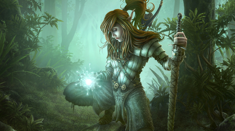 Troll Hunter Picture  (2d, fantasy, girl, woman, warrior)