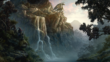 Egg Thief Picture  (2d, fantasy, dragon, landscape)