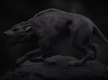 Wolf Hybrid Picture  (3d, fantasy, creature, wolf)