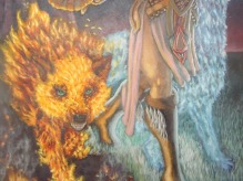 Shaman elemental wolfs Picture  (2d, fantasy, girl, woman, shaman, elemental, wolf)