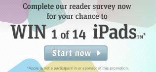News homepage promo reader survey