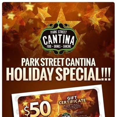 Photo: What can you do with $50? Buy two gift certificates worth $100 while they're half off for the month of December! Purchase in-store from your server or bartender!