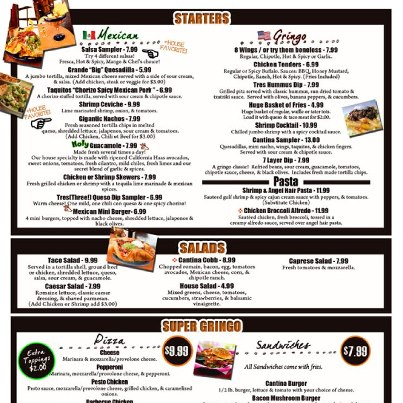 Photo: Check out all the yummy nom-noms on our menu! Full menu available on our website at http://www.parkstreetcantina.com!