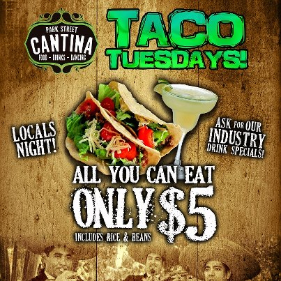 Photo: $5 all you can Tacos, $1 Margaritas and Karaoke All night!! The biggest Tuesday party in the City, Taco Tuesday at Park Street Cantina! Columbus Social