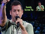 Choice words: Adam Sandler performs during 12-12-12 The Concert For Sandy Relief at Madison Square Garden on Wednesday