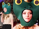 Amanda Seyfried raps in a frog hat on the Ellen show...and reveals Hugh Jackman gave her a lap dance for her birthday