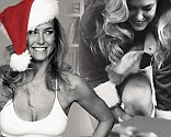 Naughty and nice Bar Refaeli does a sexy Santa striptease in cheeky new lingerie commercial