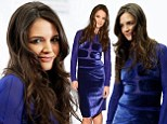 Super sexy: Katie Holmes ramped up the glamour quotient at the 12-12-12 Sandy Relief concert on Wednesday night
