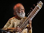 Ravi Shankar, 92, performs during a concert in Bangalore, India