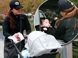 Giddy in love! Vanessa Minnillo dotes over her tiny son Camden as she takes him on his very first shopping trip