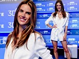 Never mind her pearly whites! Alessandra Ambrosio's sexy romper outshines her teeth as she promotes toothpaste brand in Brazil