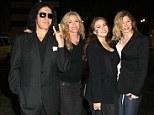 Gene Simmons and his painted ladies: KISS rocker, his wife Shannon and daughters join in on NOH8 protest against banning same-sex marriage