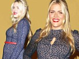Baby on board: Pregnant Busy Philipps at the SAG Awards nominations in LA on Wednesday