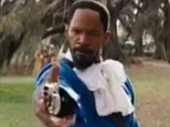 Jamie Foxx's character in Django Unchained goes from being a slave in a chain gang to a bounty hunter