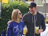 'You did it!' John Krasinski is tickled pink that his wife Emily Blunt has been nominated for a Golden Globe during a walk in LA on Thursday
