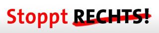 "Banner zur Kampagne ""Stoppt Rechts"""