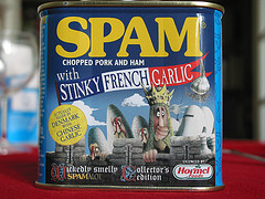 Spam with Stinky French Garlic