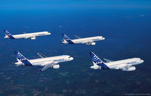 A320 Family in formation flight