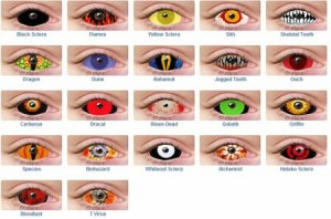 Styles of Halloween Contacts