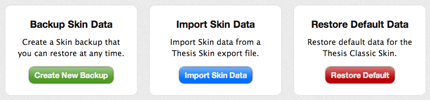Thesis Skin Manager