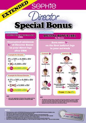 183 Director special bonus flyer - New Member Programme