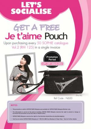 157 Lets Socialise jetaime pouch - New Member Programme