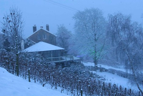 Somerset wedding venue, The Longhouse in winter