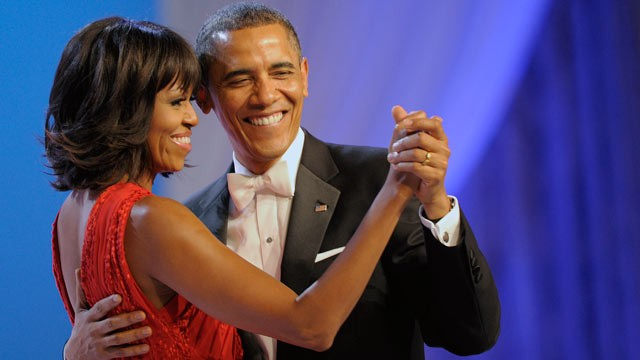 PHOTO: President Barack Obama dances with first lady Michelle Obama during The Inaugural Ball at the Washignton convention center during the 57th Presidential Inauguration in Washington, Jan. 21, 2013.