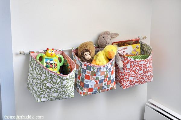 Hanging Fabric Basket Tutorial