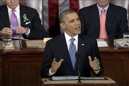 President Barack Obama delivers the State of the Union address to Congress in Washington, D.C., Feb. 12, 2013