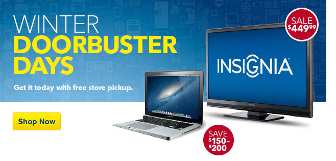 Winter doorbuster days. Get it today with free store pickup. Shop now.