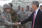 Secretary of the Army John McHugh was briefed on how the Fires Center of Excellence...