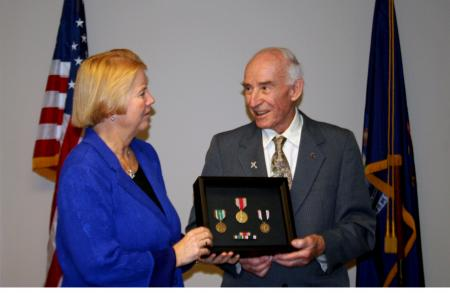 Rep. Miller presents WWII medals to William Pollauf honoring his service feature image