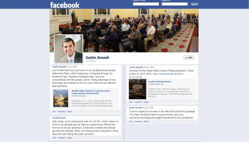 Follow Rep. Amash's Voting Record on Facebook feature image