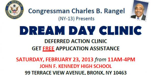 Rangel to host Dream Day Clinic on February 23, 2013.