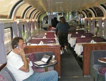 Parlour Car on Amtrak\'s Coast Starlight train