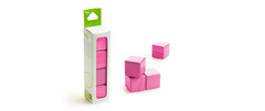 Tegu A-la-carte Cubes in Pink (4pcs)