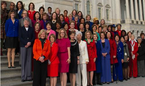 Largest women's caucus of any Congress