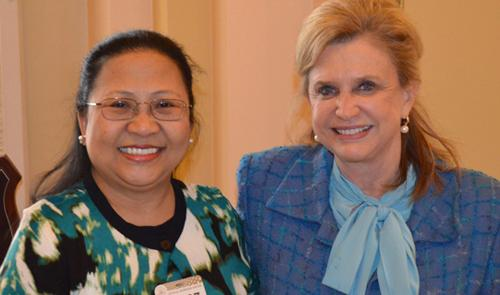 Rep. Maloney and Nurse Sanchez, Mrs. Obama's Guest at the State of the Union address
