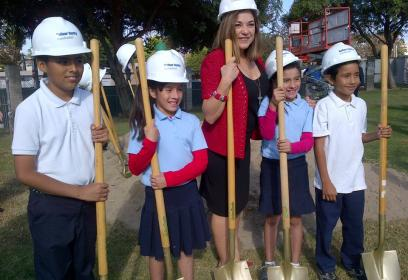Sanchez leads Garfield School groundbreaking for new classroom building feature image
