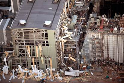 Image: Damaged Kleen Energy Systems plant inMiddletown, Conn.
