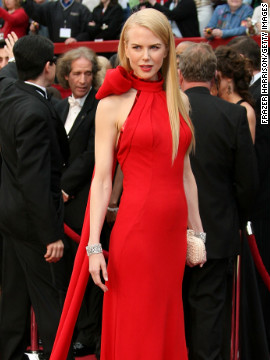 The Balenciaga gown (complete with a giant red bow) that Oscar winner Nicole Kidman donned on the red carpet in 2007 might have inspired Emma Stone's 2012 Oscar look.
