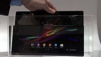 Tablet immersed in water
