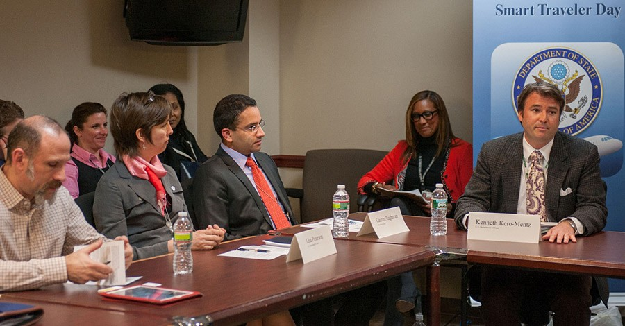 Consular Officers speak with representatives of LGBT travel industry during a Smart Traveler Day roundtable at the U.S. Department of State in Washington, D.C., February 20, 2013. [State Department photo/ Public Domain]