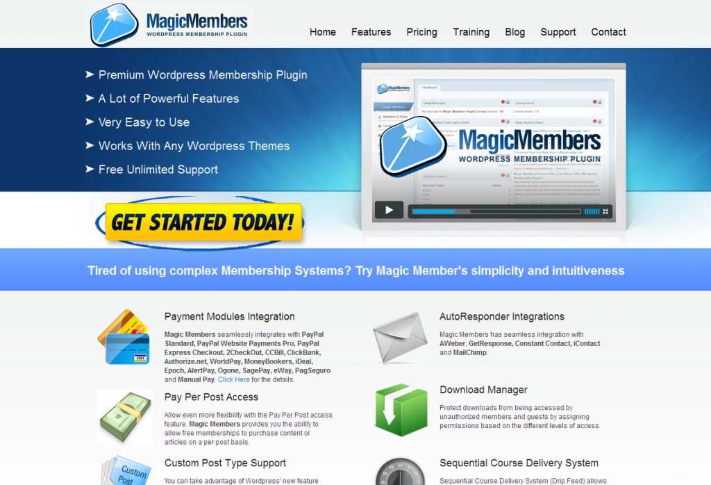 Wordpress Membership Plugin WordPress Membership software Magic Members 2012 02 15 23 53 45 1024x6982 Membership Sites With WordPress | Top Plugins